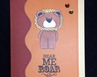 Hear Me Roar Encouragement Greeting Card