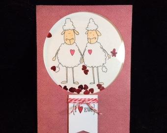 I Love Ewe Shaker Greeting Card