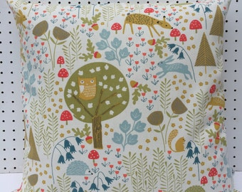 New Handmade Scandinavian Forest Cushion Cover, Scandinavian cushion cover, Contemporary, modern, Pillow Cover. Made in Cornwall.
