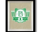 "IPA Craft Beer Label 11x14"" print"