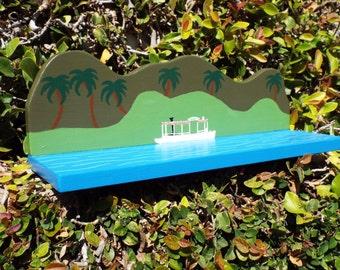 DIsneyland Jungle Cruise Inspired hanging bookshelf