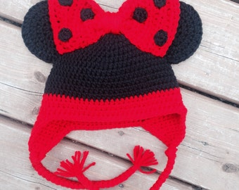 Crocheted Minnie Mouse Hat