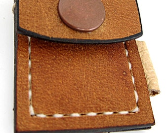 Upcycled Leather Token Key Fob