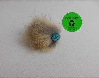 fur brooch, wedding accessory, fur button brooch, fur pin, pin, recycled fur, bridal pin, bridal brooch, bridal, wedding fur, wedding