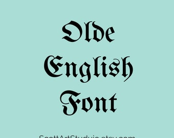 Olde English Font