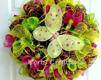 Bright and Colorful Deco Mesh Wreath