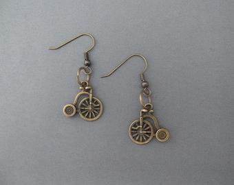 SteamPunk Penny Farthing Earrings