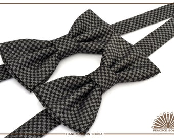 Black Chess. Bow tie for men. Bow ties for kids.  Bow tie for wedding. Bow Tie for Boys.  Bow Ties for Baby.