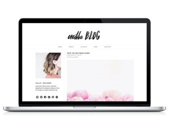 "responsive wordpress theme ""cecilla"" - stylish blog design template"