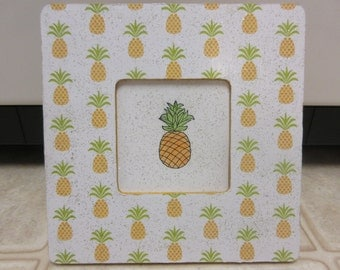 Wood Pineapple Picture Frame-Summer Decor