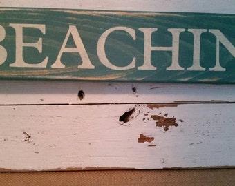 BEACHIN sign
