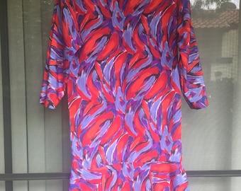 Vintage drop peplum dress
