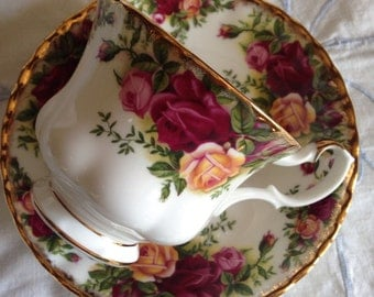 Old Country Rose Royal Albert cup and saucer