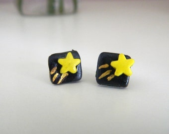 Shooting Star Polymer Clay Earrings
