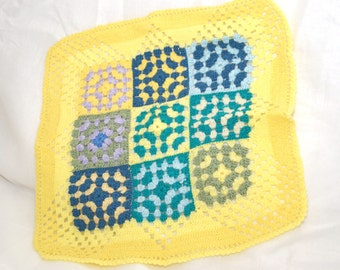 hand knitted baby blanket.