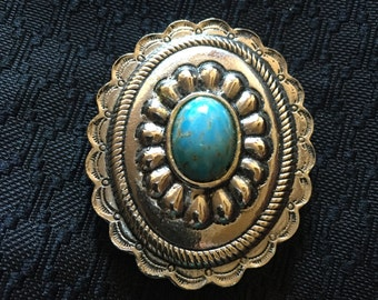 Accessocraft Faux turquoise bolo slide
