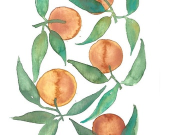 Tangerines Original Painting