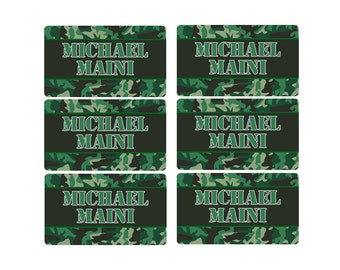 95ct Stick On Clothing Name Labels,  Kids Clothing Labels, Personalize Uniform Name Labels - Baby Clothing Camoflauge