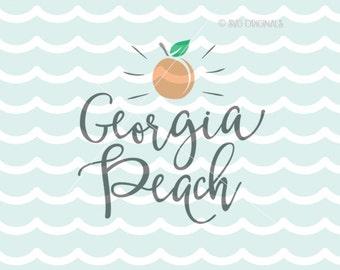 Georgia Peach SVG Georgia State SVG Cricut Explore & more. Cut or Print. Georgia Peach Southern Peaches SVG