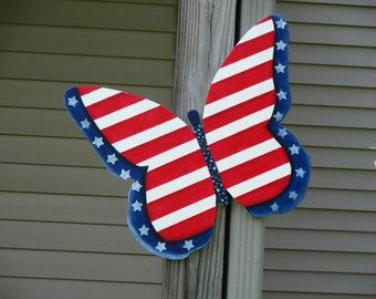 Patriotic Butterfly Yard Sign