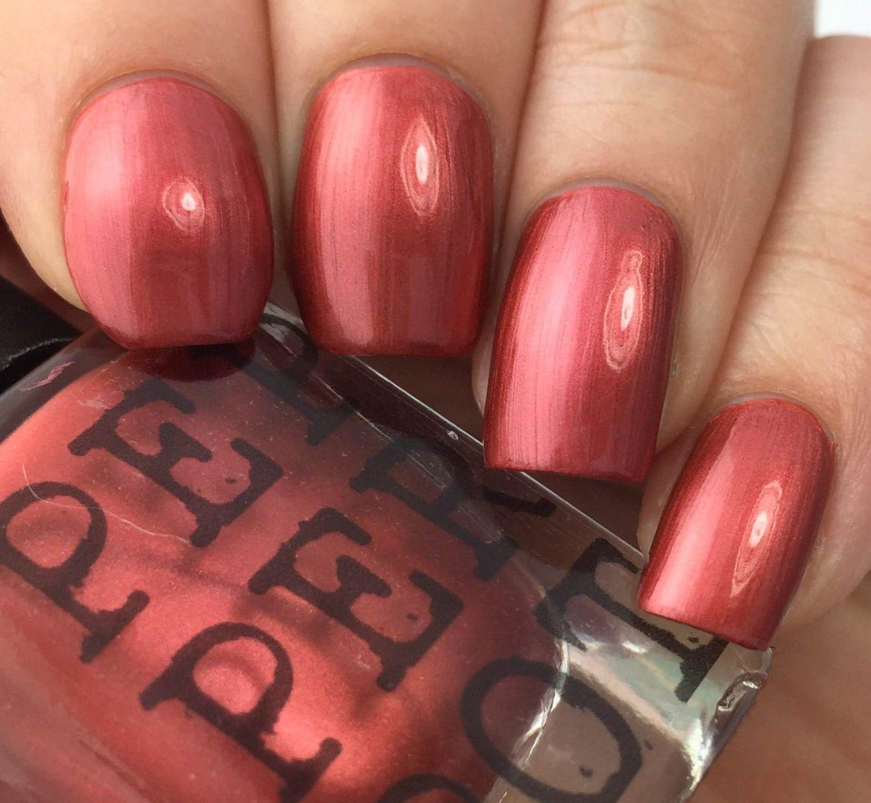 Brick Red Nail Polish 5 Free Nail Polish Handmade Indie Nail
