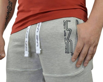 Men's Sweat Shorts with Zips and drawstring