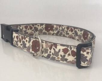 Dog Collar in Liberty of London Floral Print