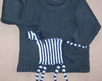 black zebra jumper for a toddler