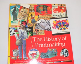 """Vintage Book- """"The History of Printmaking"""" by Scholastic"""