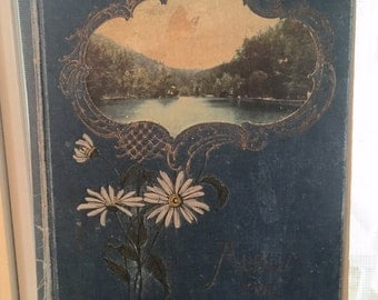 antique FRENCH POSTCARD ALBUM