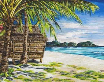 Tropical Shore (Print)