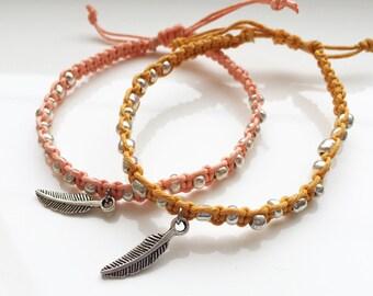 Feather Hemp Bracelet