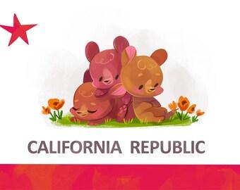California Republic - Art Print