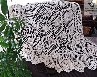 Pineapple Doily Bed Blanket