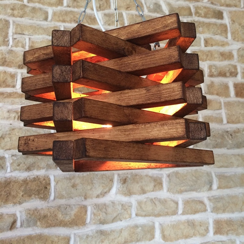 21 Creative Diy Lighting Ideas: Rustic Ceiling Light, Rustic Light Fixture, Rustic Wood