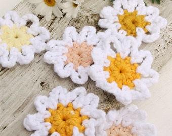 Crochet Spanish Daisy Flower Embellishment/Add On, Cusom Order, Handmade