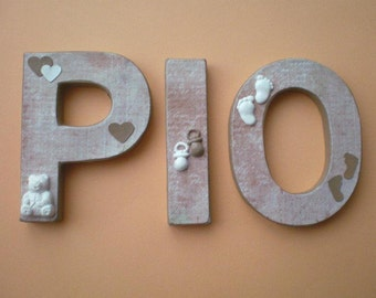 Individual name lettering for the nursery