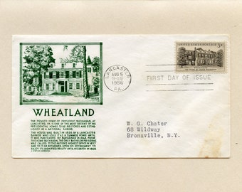 US First Day of Issue Cover Wheatland President Buchanan's Home Lancaster PA August 5 1956 Stamp 1081 FDC  Stephen Anderson Cachet - 6597P