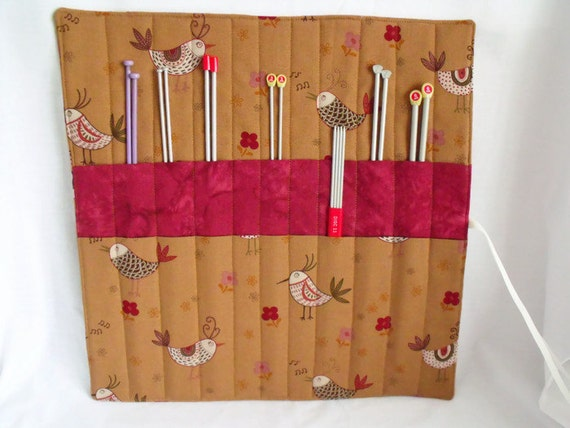 Knitting Needle Storage Roll : Knitting needle holder roll storage