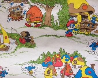 Smurf Vintage Wallpaper Roll - rare kitsch kids childrens gargamel smurfette decor