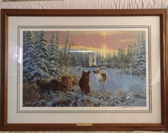 Michael Sieve Hunters Moon The Spoils Limited Edition Art Print Signed Numbered Framed Matted