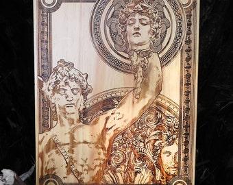 Perseus & Medusa - Greek Mythology, Ancient Greek Gods, Greek Myths, Greek Heroes, Fathers Day Gift for Dad, Gift for Him, Men Gift