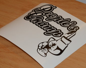 People's Champ decal