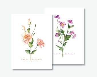 Floral Birthday Card - Perfect gift for her