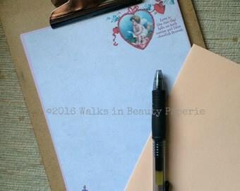 Vintage Valentine's Romantic Stationery Writing Paper