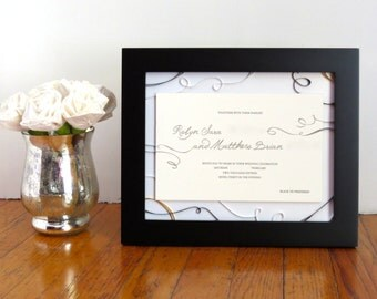 First Anniversary Gift for Wife - Custom Wedding Invitation Keepsake - Framed Wedding Vows - Personalized Anniversary Gift - Paper Quilling