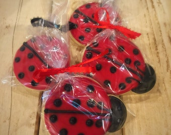 Lady Bug Decorated Sugar Cookies