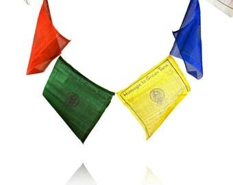 Tibetan prayer flag. English