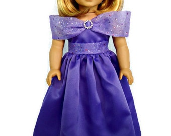 American Girl Doll Faashion, Elegant Formal Dress, AG evening gown fits the American Girl and similar 18 inch dolls.