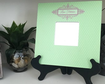 Personalized Mirror Frames - Polka Dot Style